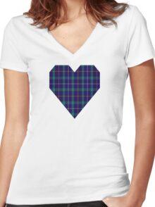 00766 Baptist Union of Scotland Tartan Women's Fitted V-Neck T-Shirt