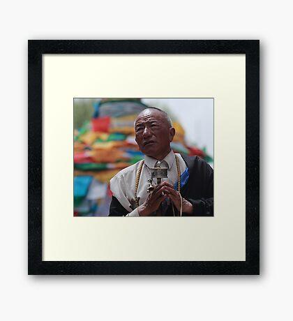 Tibetan Pilgrim Framed Print