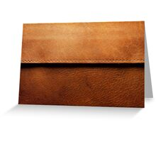 Leather Cowboy Chaps  Greeting Card