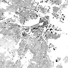 Boston Map White by duzhd