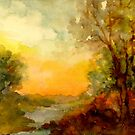SUNSET  THROUGH THE WOODS by Mary  Lawson