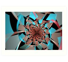 Portals Ruffled Tiles Art Print
