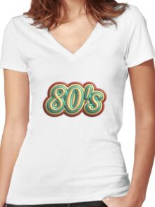 Vintage 80's Women's Fitted V-Neck T-Shirt