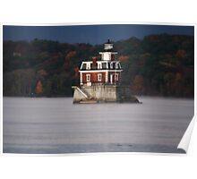 Hudson River Lighthouse Poster