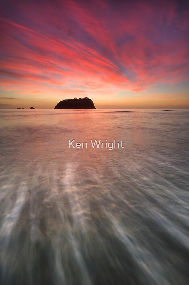 Red Rush ~ Motuotau Island by Ken Wright