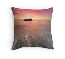 Red Rush ~ Motuotau Island Throw Pillow