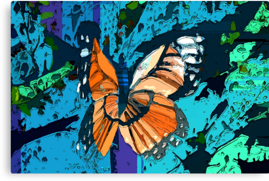 Orange butterfly graphic by ♥⊱ B. Randi Bailey