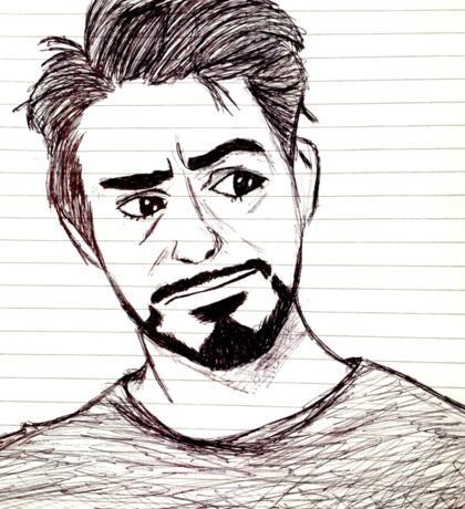 Robert Downey, Jr. on Lined Paper Sticker