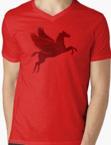 Damaged Pegasus Mens V-Neck T-Shirt