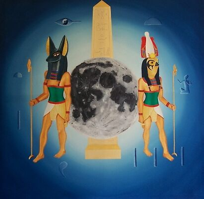 "Horus & Anubis(ar.t nebt)"" by Michael Cash 
