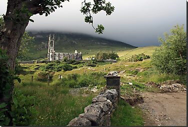 Dunlewey church near Errigal mountain in county Donegal