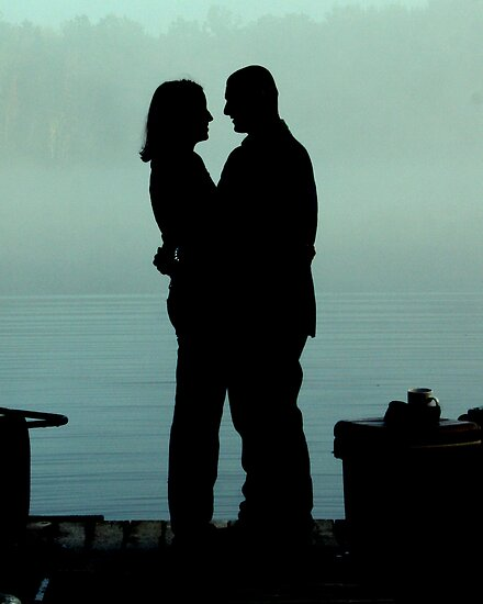 in love silhouette. Silhouetted Love by Taylor