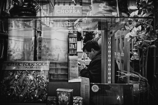 Street Photography: Street Candid - Bibliophool by James D Umbra