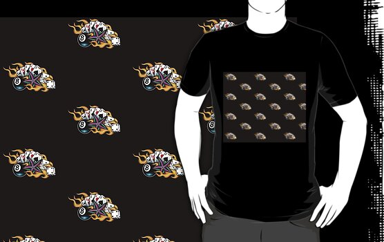 Tshirt: Flamin 8 Ball Tattoo zoom in Previews based on large size,