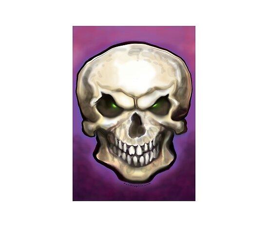 Bob Tyrrell - Skull Tattoo Evil Skull by Kevin Middleton.