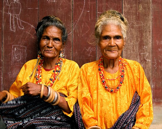 Street Photography: Welcoming Village Elders by Gina Ruttle