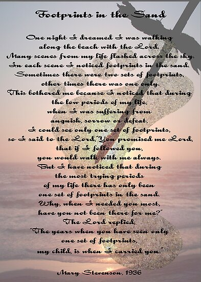 picture relating to Footprints in the Sand Poem Printable Version referred to as holdobih: footprints poem