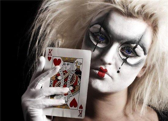 creepy clown makeup. is full Evil+clown+makeup
