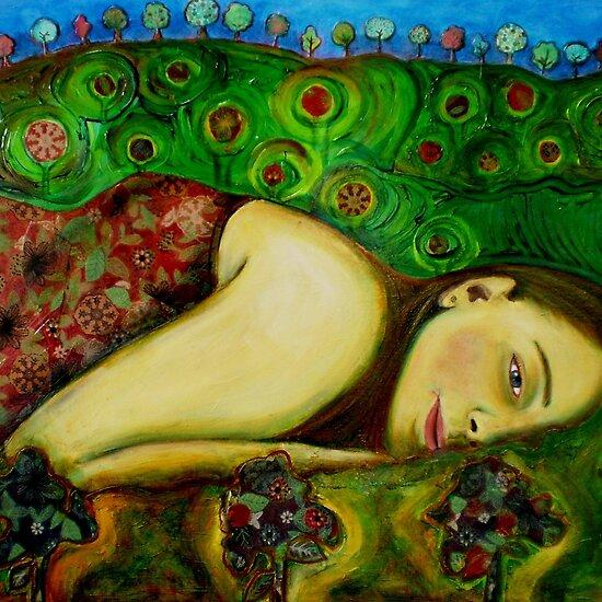 Zena na slikarskom platnu Work.3599853.3.flat,550x550,075,f.girl-in-a-hundertwasser-landscape