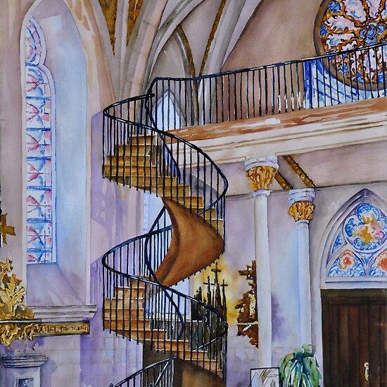 Tus Ntaiv nyob Santa Fe Work.3950312.2.flat,550x550,075,f.loretto-chapel-staircase-santa-fe-nm