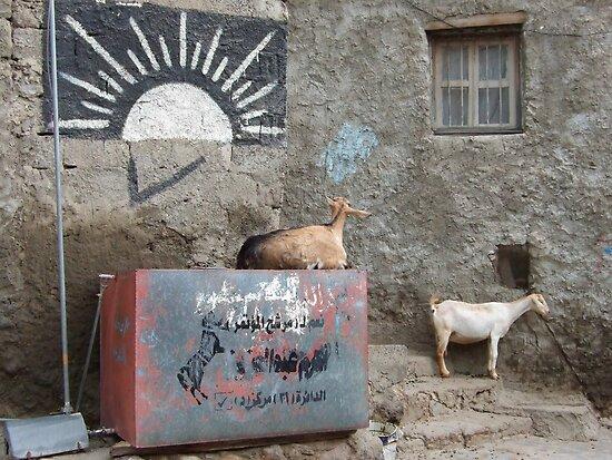 Symbols on the wall (11) - street corner in Taizz