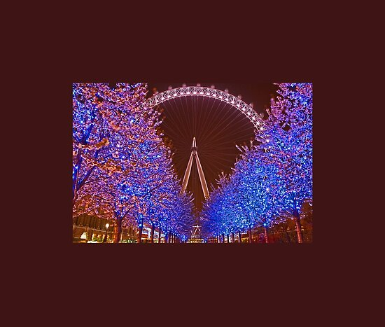 wallpaper london eye. London Eye at night by vadim19