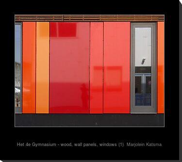 Het 4e Gymnasium - wood, wall panels, windows (1)
