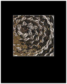 Matted print, black matte