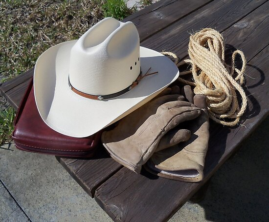 Cowboy Tools of the trade - a good hat, good pair of gloves,some ...