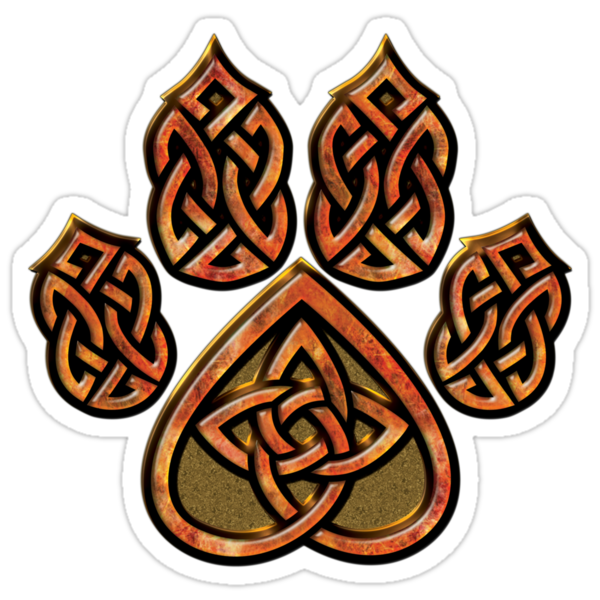 Celtic Knot Wolf Paw