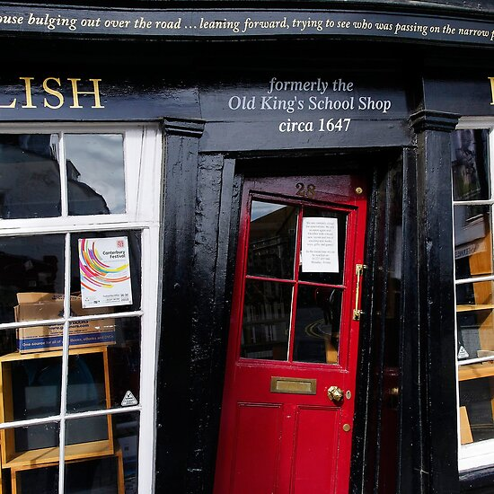 "Unusual door, The Old King's School Shop, Canterbury, Kent"" Fine ..."