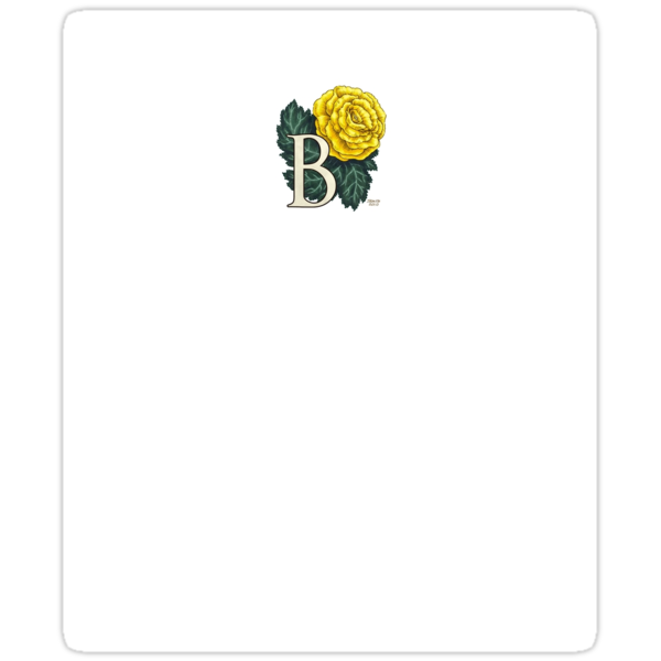 B is for Begonia sticker