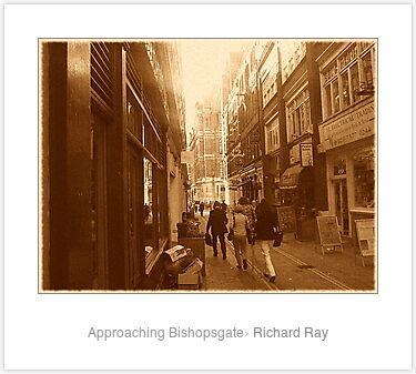 Laminated Print: Approaching Bishopsgate