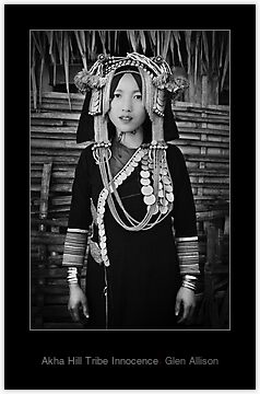 Laos, Phongsali Province, Papuon Mai village, Akha hill tribe, lady with traditional headdress