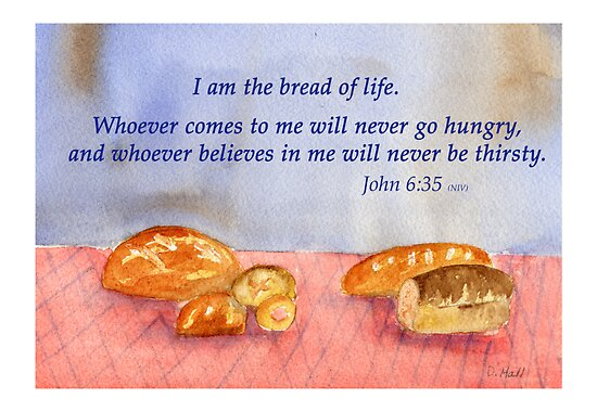 "True Satisfaction... John 6:35"" Fine Art Print by Diane Hall ..."