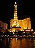 'Las Vegas: Paris Hotel at Night' Top Ten in PostCards-Destinations challenge Towers & Spires