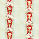 Red hair mushroom doll and company by rupydetequila