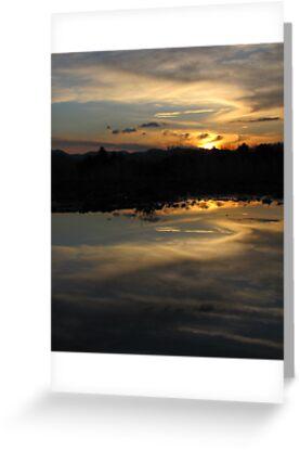Sunset at Fake Lake Puddle