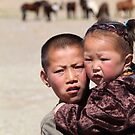 Mongolian kids by Valérie Curty