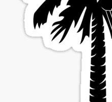 Black Carolina Girl Palmetto Moon Sticker by Palmetto Trading