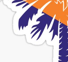 Orange and Purple Palmetto Moon Sticker by Palmetto Trading