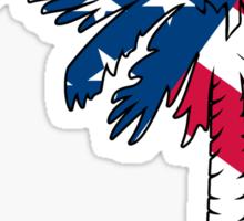 American Flag Palmetto Moon Sticker by Palmetto Trading
