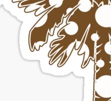 Brown Polka Dots Palmetto Moon Sticker by Palmetto Trading