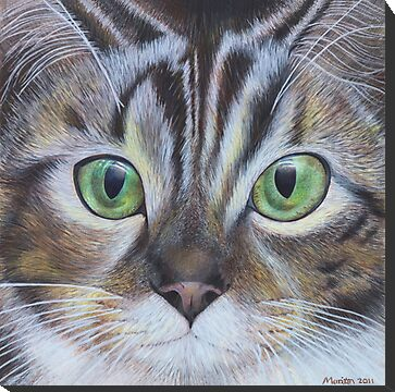 cat face animal painting for sale