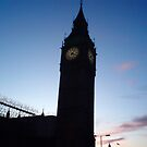 Sunset Over Big Ben by lyvit