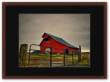 Old Red Barn near Plainview, Oregon.  Picture taken by Charles Harkins