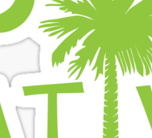 Lime Green South Carolina Palmetto Moon Native Sticker by Palmetto Trading