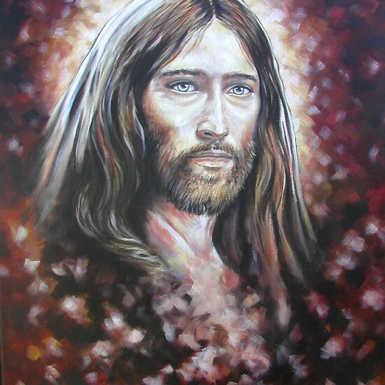 "Mystical Jesus"" Fine Art Print by Tahnja 