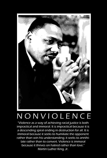 martin luther king and nonviolence thesis Non-violence in the civil rights movement in the united states of america dissertation freie universit t berlin jfk institut 2008 sharp, harrop a freeman and also martin luther king, jr there is a difference between non-violence.