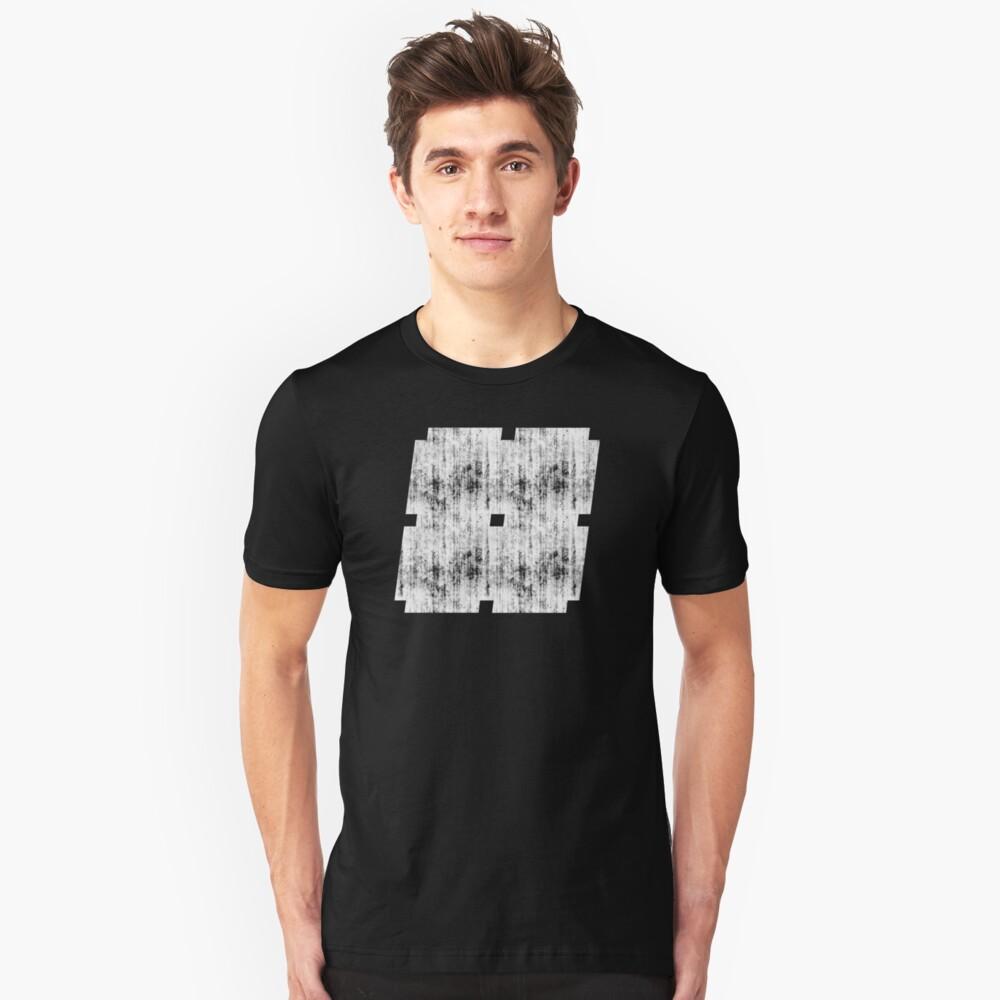 Damaged Hashtag Unisex T-Shirt Front